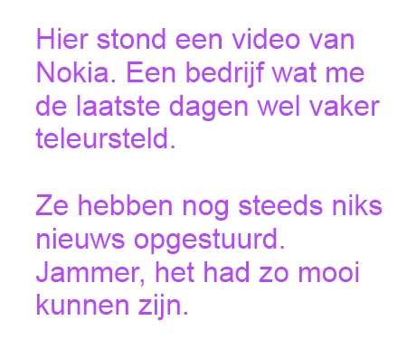 Geen Nokia video