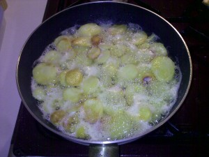 Opgebakken aardappelen_beginnenalbruinteworden