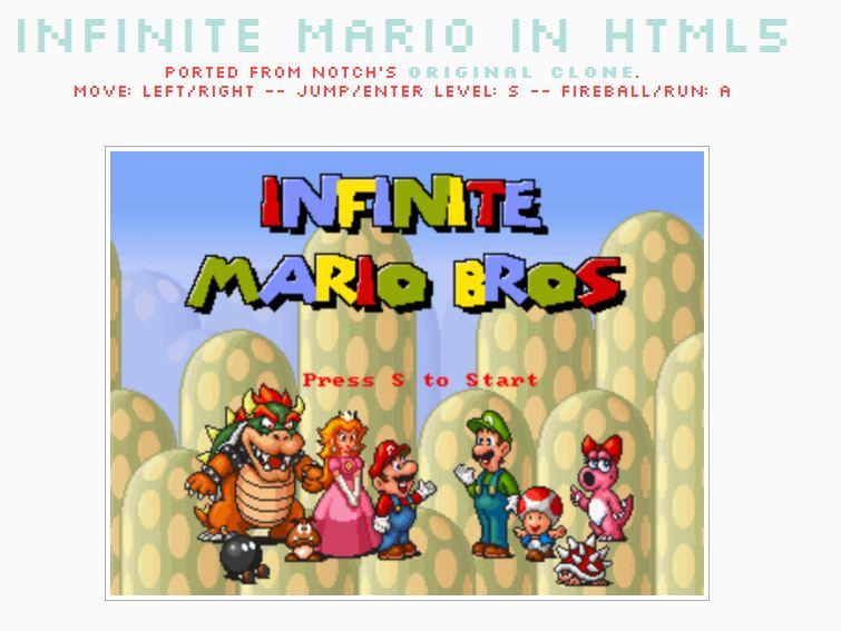 Infinite Mario in HTML5