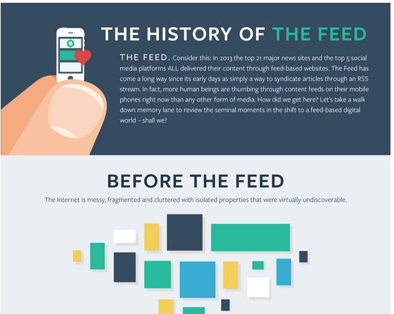 Geschiedenis van de feed